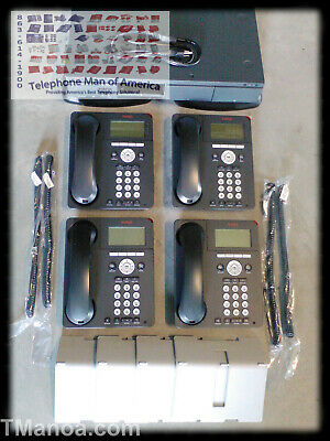 Avaya IP Office 500 V2 Business Phone System VMail 700476005 IP Phones w 4 9620L