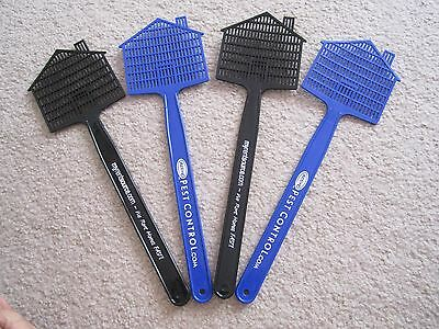 4 Plastic Fly Swatters Advertising Swat Bug Mosquito Insect Wasp Killer Catcher