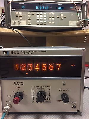 HP 5216A Nixie Tube Frequency Counter, Works, Tested, with Service Manual.