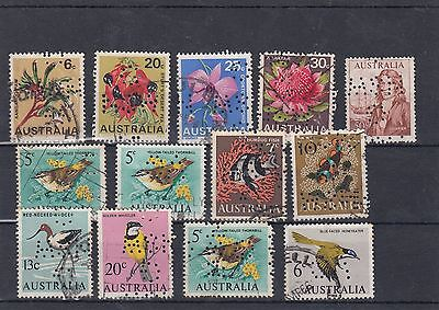 AUSTRALIA - Mixed Lot Used Early Decimal Perfins as shown Lot 2