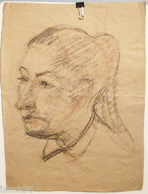 WOMAN'S PORTRAIT drawing by Russian artist A.M.Gromov