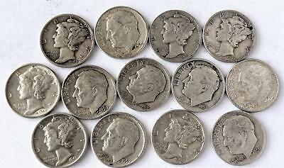 Small Collection Of Silver Mercury And Roosevelt Dimes - Choice Lot