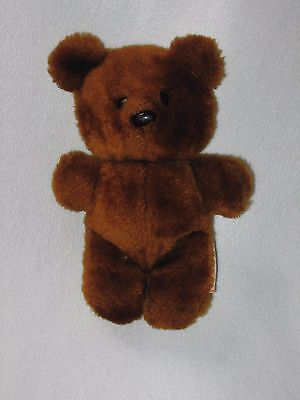 Dakin Plush Pooky Teddy Bear Brown Small Stuffed Animal 1983 Vintage 8""