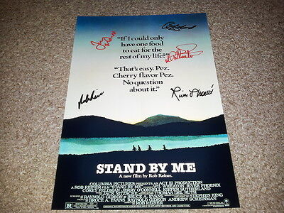 "Stand By Me Cast X6 Pp Signed 12""x8"" A4 Photo Poster River Phoenix Corey Feldman"