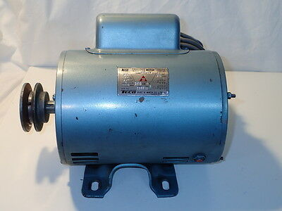 Teco 240 volt single phase induction electric motor