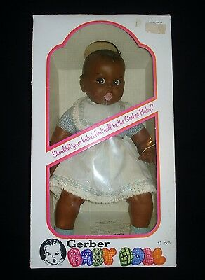 1979 African American 17in. Gerber Baby Doll, NRFB, Non-removable Movable Eyes