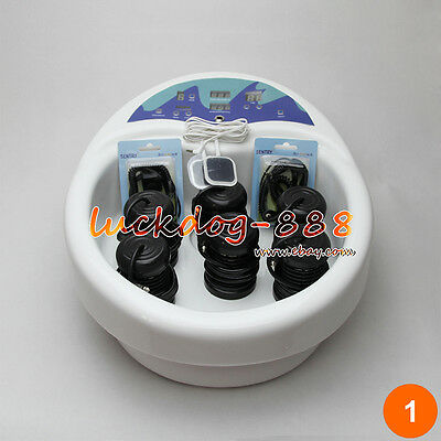 New Foot Detox Machine Ion Foot Bath Spa Cell Cleanse LCD Acupuncture 6 Arrays