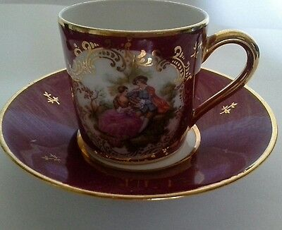 Limoges France minature cup and saucer collectable