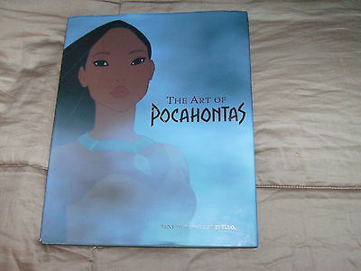 Disney The Art of the Pocahonta Book Look at Condition.BRIGHT BEAUTIFUL COLORS