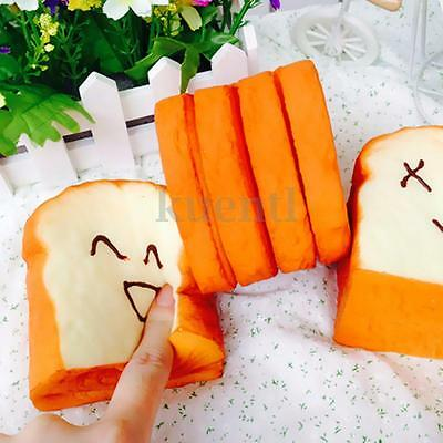 Jumbo Squishy Cellphone Strap Bread Scent Toast Slow Rising Kawaii Expression
