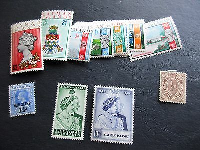 CAYMAN ISLANDS STAMPS! big lot mostly mint 116-7 210-224 Caribbean George Town