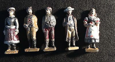 Set of Five Lead Figures Military Russian French Italian?