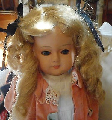 """Antique Vintage  Papier Mache 21"""" tall  Doll  As Is"""