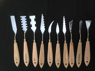 10 pcs Stainless Steel Special Effect Painting Knife Set Pallet Artist's Spatula
