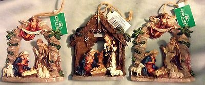 Lot Of 3 Nativity Ornaments Christmas Ornament 2 Styles