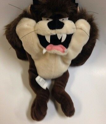 "Looney Tunes Tasmanian Devil Plush Bean 8"" Stuffed Toy Taz Warner Brothers 1998"