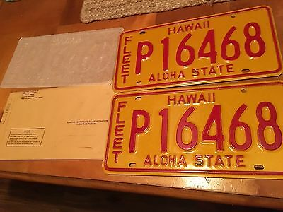 Vintage NOS Hawaii 1981 Aloha State License Plate Passenger Car Bus Collectible