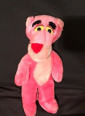 """Vintage Pink Panther Plush 9"""" Stuffed Animal 1989 Special Effects 24k"""