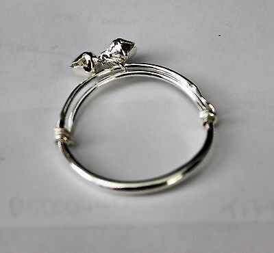 Gorgeous Baby Girls Plain Smooth  Silver Plated Adjustable Ball Style Bangle