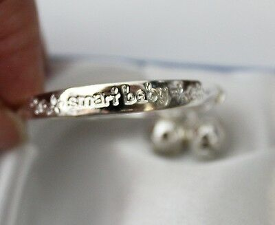 Baby Girls*smart Baby* 925 Sterling Silver Plated Adjustable Ball Style Bangle