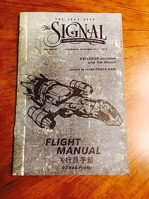 Firefly Loot Cargo Crate November 2016 - The QmX Signal Flight Manual Booklet