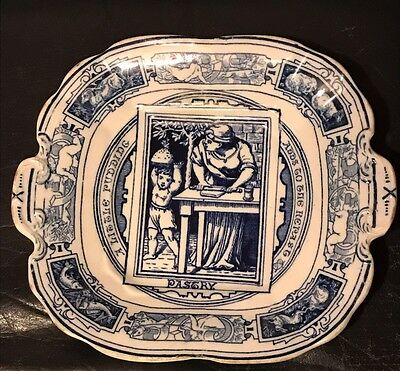 Antique Early Very Rare Old Wedgwood Pastry Pudding Plate