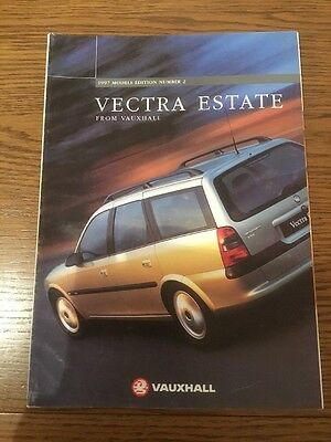 Vauxhall Vectra Estate range brochure 1997 models ed 2