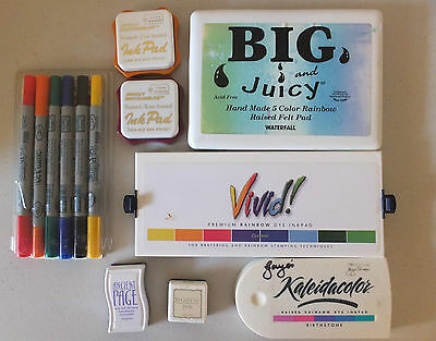 Assorted Craft Products  Ink Pads Marvey Pens