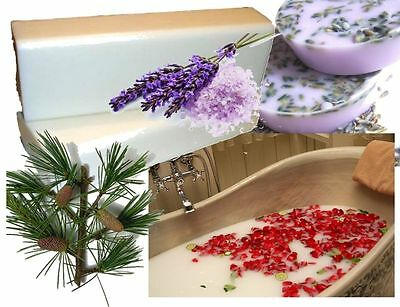 1kg MILK BATH SOAP BASE: Cleopatra, Rosemary/Cedarwood/Rose/Lav Melt and Pour MP