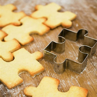 Kid Puzzle Stainless Steel Cookie Cutter Mold Fondant Cake Biscuit Pastry Baking