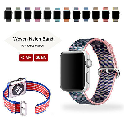 New Release Sports Royal Woven Nylon Strap Band for Apple Watch iWatch 42mm/38mm