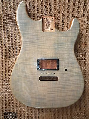 Warmoth Stratocaster Body / Flame Maple Top Solid Mahogany Back / Contour Heel!!