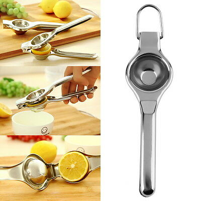 Kitchen Bar Stainless Steel Lemon Orange Lime Squeezer Juicer Hand Press Tool ZD