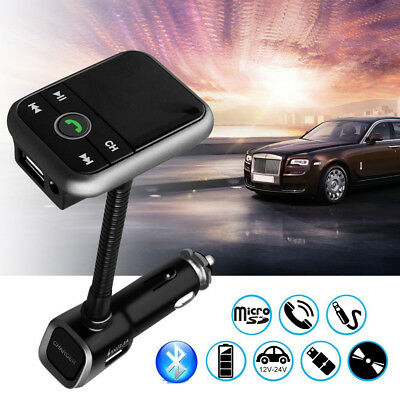 Bluetooth FM Transmitter Radio Auto MP3 Musik Player USB LF