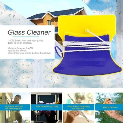Magnetic Window Double Side Glass Wiper Cleaner Cleaning Brush Pad Scraper ZD