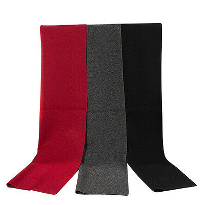 Fashion Soft Men's Cashmere Warm Wrap Neck Scarf Scarves Solid Color Xmas Gifts