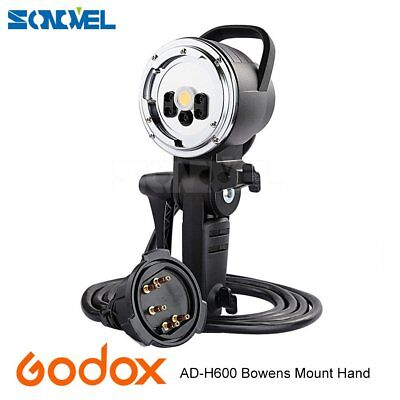 New Godox AD-H600B Hand-Held Extension Head for AD600B Flash Strobe Bowens Mount
