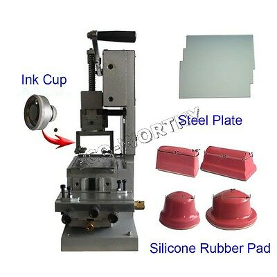 ECO ASC 1 Color Manual Pad Printer with Steel Plate & Silicone Rubber Pads