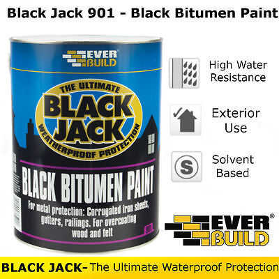 901 Black Bitumen Paint | Everbuild Black Jack | Weatherproof Protection