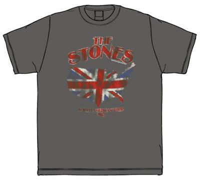 The Rolling Stones - Union Jack U.S. Map '81 T-Shirt Black New Shirt Tee