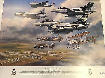 11 XI Fighter Squadron Centenary Print Wong RAF Coningsby Typhoon Lightning F3