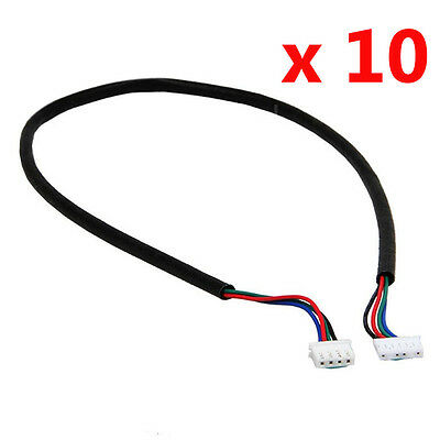 10X New 100cm 4-wire Cable For Stepper Motor NEMA17 Shaft For 5mm CNC Makerbot