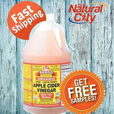 Bragg Apple Cider Vinegar 3.78Lt with Mother- FREE SHIPPING- SAME DAY DISPATCH