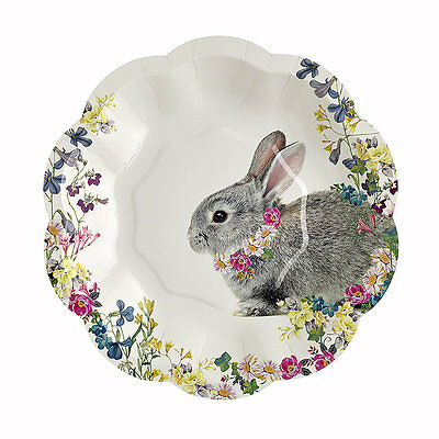 12 x Truly Bunny Paper Plates for Picnics and Parties