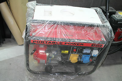 Honda Portable Power 4500 Super Silent Generator 50Hz, AC 115V, AV 230C, DC 12V