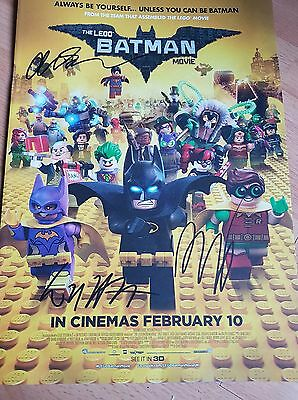 lego batman movie mini poster signed by will arnett phil lord and chris miller