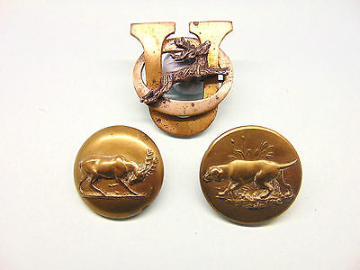 """A """" Stag """" Huntnig Badge And Buttons."""