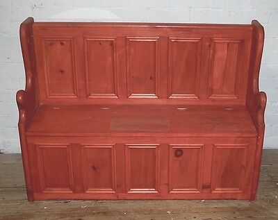 Beautiful Antique Style Solid Pine Storage Settle Bench Bedding Toys Shabby Chic