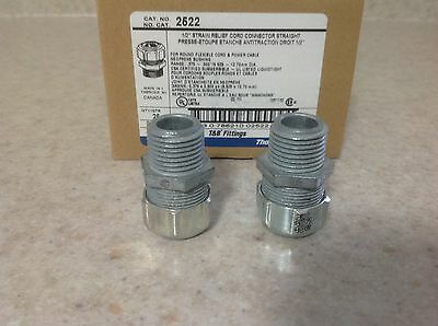 "25  Thomas & Betts 1/2"" Strain Reliefs Cord Connectors  # 2522"