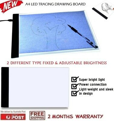 A4 LED Adjustable Light Box Tracing Pad Art Design Stencil Drawing Board Table